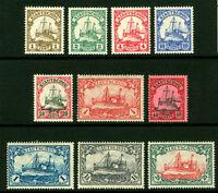 German Colonies - KIAUCHAU 1905-16  Kaiser's YACHT set  Sc# 33-42  mint MH