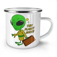 Other Planet NEW Enamel Tea Mug 10 oz | Wellcoda