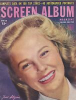 WINTER 1947 SCREEN ALBUM vintage movie magazine - JUNE ALLYSON