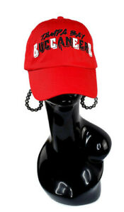 Tampa Bay  Buccaneers Red Fitted Adj. Cap ~ Shiny Lettering.