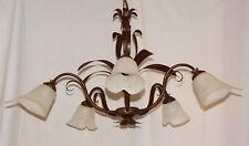 LAMPADARIO LED ARTIGIANALE ART.190 MADE IN ITALY VETRO ARTE FIORENTINA FERRO