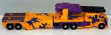 "1986 Yellow & Purple Onslaught Bruticus 9"" G2 Transformers Hasbro Vintage Figure"