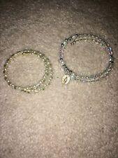 1st Communion Beaded Jewelry 2n1 Virgin Mary Holy Medal Bracelet/Choker+Bracelet