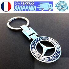 Porte cle Mercedes Etoile bleue Metal Chrome keychain keyring