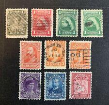 Newfoundland Stamps #78-80/82/86 Used