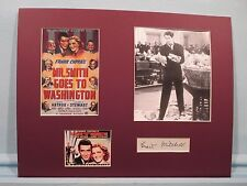 """Mr. Smith Goes to Washington"" starring James Stewart & signed by Grant Mitchell"