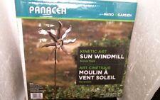 Panacea Bronze Sun Windmill Kinetic Art, Free Shipping