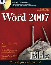 Microsoft Word 2007 Bible, Tyson, Herb, Good Book