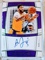 Anthony Davis 2019/20 National Treasures Auto Autograph #4/5 LA Lakers EMERALD