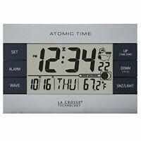 La Crosse Technology 617-1280 Atomic Digital Alarm Clock Silver
