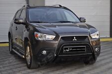 MITSUBISHI ASX STAINLESS STEEL BLACK AXLE NUDGE A-BAR BULL BAR 2012-2014 W K