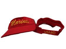USMC Marine Marines Red EGA Letter Visor Cap Hat
