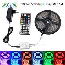 RGB LED Strip Light Neon 300led Decor Flexible Tape Waterproof Diode Ribbon