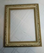 Vintage Ornate Gold Picture Painting Wooden Painted Frame 17x14, inside 14x11