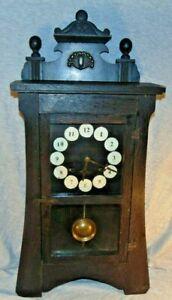 Antique New Haven Arts & Crafts Mission Style Mantel Clock Runs Body P/R
