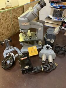 AMERICAN OPTICAL COMPANY FIFTY Vintage MICROSCOPE Lot. Aristo Kodak Laboratory