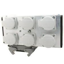 Mpl ulpb 6 Alu Powerbox 6 16pol Harting 6 schukodosen splittbox Power multicore