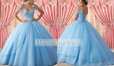 Quinceanera Dress Beading Prom Ball Gown Custom Size 8 10 12 14 16 18 20 22 24+