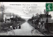 VIGNEUX-MONTGERON (91) VILLAS animées / LA GLACIERE en 1910