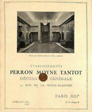 PARIS DECORATION PERRON MOYNE TANTOT /AUBERLET LAURENT/  PUBLICITE 1934