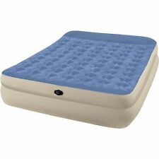 Queen Raised Air Bed Intex Mattress Waterproof Camping Airbed Guest Bed NEW