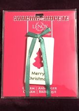 Lenox Merry Christmas Charm Ornament New Sku 838389 Rare Gift Topper