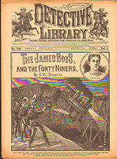 dime novel; DETECTIVE LIBRARY #750: The James Boys and the Forty Niners