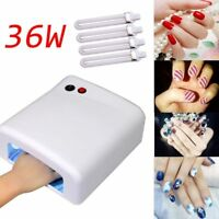 36W Pro Nail Polish Dryer Lamp LED UV Gel Acrylic Curing Light Spa Kit + 4 tubes