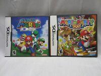 Super Mario 64 An Mario Party Nintendo DS  With Case & Paperwork 2004 !no games!