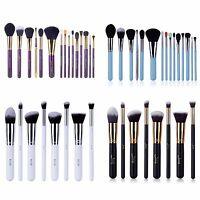 Jessup Makeup 10~15pcs Brushes Set Powder kabuki Foundation Eyeshadow Brush Tool