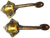 Red Ganesh Antique Vintage Repro Handmade Brass Door Handle Pull Knob Door Decor