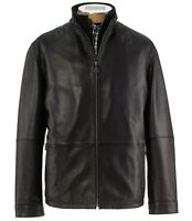 JOS.A.BANK Signature Collection Mens Winter Lamb Leather Jacket Big Size 4XB