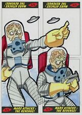 Mars Attacks The Revenge 4 Piece Sketch Card Puzzle Set By Tod Smith
