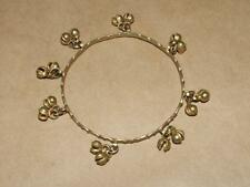"Bell Jingle Charm Bangle Bracelet 8.75"" Vintage Lrg Kuchi Brass Belly Dancing"