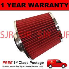 Rojo Y Cromo Universal Alta Potencia actualiza filtro de aire con adaptadores 60 65 70 76
