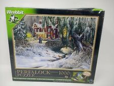 Wrebbit Perfalock Puzzle Winter Lace D.R. Laird 1000 Piece Puzzle New Sealed