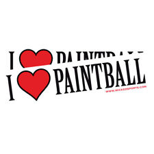"Wicked Sports Bumper Sticker - 2 Pack - "" I Love Paintball"""