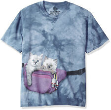 The Mountain Mens / Womens Cute Fanny Pack Cats Kittens T-Shirt, Blue Size Small