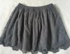 ABERCROMBIE KIDS SKIRT GIRLS Large/14 Gray Lace NWT New