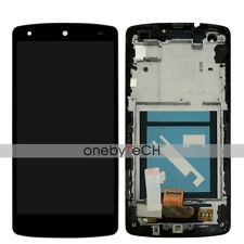 """5"""" LG Google Nexus 5 D820 D821 White Touch Digitizer LCD Display Assembly+Frame"""