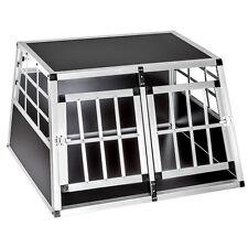 TecTake 89x69x50cm Cage de Transport pour Chien Double avec Paroi Droite (400549)