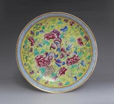 OLD FINE CHINESE FAMILLE ROSE PORCELAIN DISH KANGXI MARKED (E70)