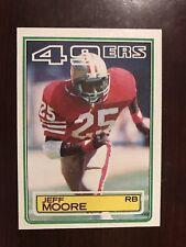 1983 Topps #170 - Jeff Moore - San Francisco 49ers