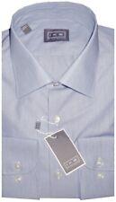 NEW IKE BEHAR BLUE MICRO STRIPE CLASSIC FIT DRESS SHIRT 17.5 34/35
