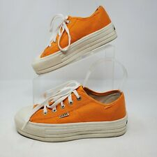 Guess Vintage Usa Made Orange Chunky Platform Womens 6.5 Vintage Shoes Sneakers