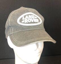 Land Rover Gray Logo Cap Baseball Hat Cotton Blend Embroidered Adjustable