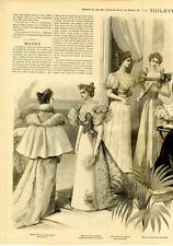 French MODE ILLUSTREE SEWING PATTERN Dec 23,1894  BALL GOWNS