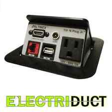 TNP125 Desk Table Power Tap Grommet Data Center HDMI RJ45 USB AC Power Altinex