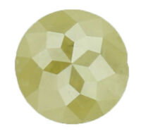 Natural Loose Diamond Round Rose Cut I3 Clarity Yellow Green Color 0.55 Ct KR324