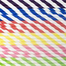 Paper Straws Biodegradable 150 Pack Disposable Vegan No Plastic Drinking Straws